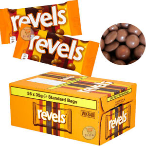 REVELS CHOCOLATE STANDARD BARS BULK BUY 35g(3/5/10/20 BARS) ORIGINAL FRESH STOCK