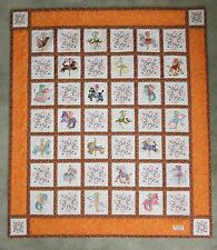 CAROUSEL ANIMALS~MACHINE EMBROIDERED BABY QUILT