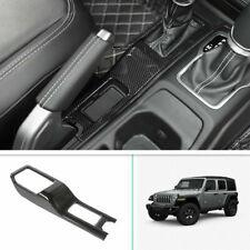 Carbon Fiber Gear Panel Shift Cover Decor Trim  For 2018-2020 Jeep Wrangler JL