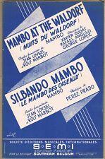 MAMBO at the WALDORF de CUGAT ANGULO LOYSEL & SILBANDO MAMBO de PEREZ-PRADO 1951