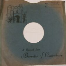 "78 rpm 10"" inch card gramophone record sleeve BARRETTS of CANTERBURY"