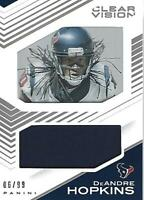 2015 Panini Clear Vision Jerseys #21 DeAndre Hopkins Jersey /99 - NM-MT