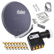 FUBA DAA 850 Alu SAT Antenne Spiegel 85cm Schüssel + Premium 4K Octo HD HB LNB