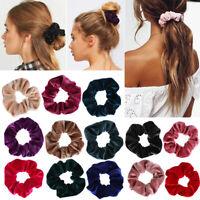 Women Children Hair Scrunchies Velvet Elastic Hair Bands Scrunchy Hair Ties 2019