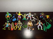 TMNT (8) FIGURE GOOD GUY LOT  CASEY + 100% COMPLETE TEENAGE MUTANT NINJA TURTLES