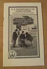 "1940 Farmers' Bulletin~""Parasites and Parasitic Diseases of Sheep"" Usda~"