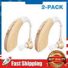 1Pair Digital Hearing Amplifier Personal Sound Device 4 Channels Noise Reduction