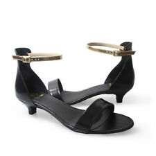 Low (3/4 in. to 1 1/2 in.) Leather Party Medium (B, M) Heels for Women