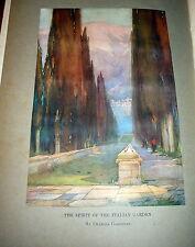 The Gardens of Italy, Phillips & Bolton 1919 Folio. Garden Architecture & Design