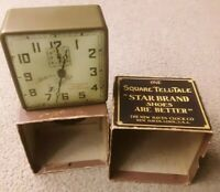 Vtg 1925 NEW HAVEN Star Brand Shoes Advertising Dial Alarm Clock w/Box & Working