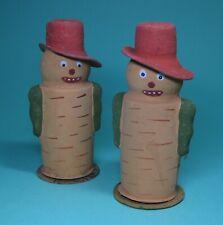 Great Antique Halloween Paper Mache Corn Man Pumpkin Candycontainer Germany 30s