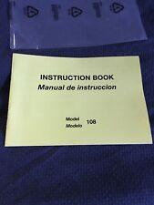 New listing  00004000 New Original New Home 108 Instruction Book