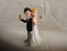 Cake Topper Matrimonio, Sposini Sopra Torta Resina, karma Living ,wedding Cake