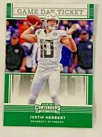 2020 Panini CONTENDERS Draft Picks  JUSTIN HERBERT RC #4 GAME DAY TICKET
