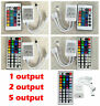 For 3528 5050 RGB LED Strip Light 24/44 Key IR Remote Controller Box AC/DC 12V