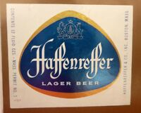 OLD USA BEER LABEL, HAFFENREFFER BREWERY BOSTON MASSACHUSETTS, LAGER BEER