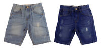 "BOYS ""EX NEXT"" DENIM SHORTS - 2 SHADES - ADJUSTABLE WAIST FASHION SHORTS"