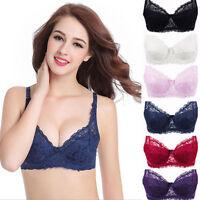 Women Plus Size Bra Lace Underwire Bra 10 12 14 16 18 20 22 A B C D E F New Bras