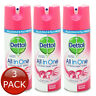 3 x DETTOL ALL IN ONE DISINFECTANT SPRAY ORCHARD BLOSSOM ANTIBACTERIAL 400ml