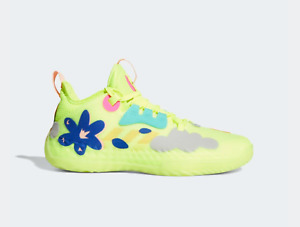 Adidas James Harden Vol 5 FUTURENATURAL FY2118 Solar Yellow Blue Flower Size