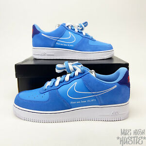Nike Air Force 1 '07 LV8 First Use Men's Size 11.5 University Blue White Sneaker