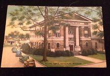 Vintage Hattiesburg Mississippi Masonic Temple Postcard Postmark 1942 1 Cent