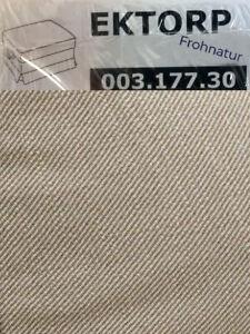 Ikea EKTORP Bezug f. Hocker Nordvalla dunkelbeige neu OVP 003.177.30 Ersatzbezug
