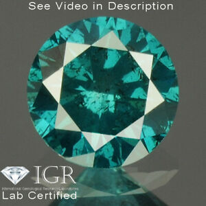 0.25 cts. CERTIFIED Round I1 Vivid Royal Blue Color Loose Natural Diamond 24279