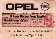 Ticket BL 95/96 FC Bayern München - Fortuna Düsseldorf