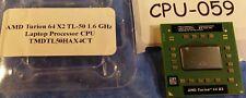#CPU059 - 1.6 GHz AMD Turion 64X2 Mobile TL-50 CPU Processor TMDTL50HAX4C - Used