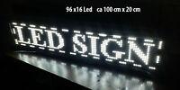 96x16 LED Laufschrift Reklame Werbeanzeige Leuchtreklame 1536 LEDs Weiß