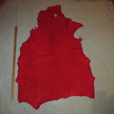 Big 9+ sf Soft Red Sheepskin Leather Hide 3+ oz Native Crafts Moccasins