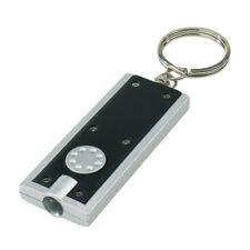 Schlüsselanhänger LED Mini Taschenlampe Schlüsselleuchte schwarz/silber 1384SC H