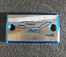 Bouchon, couvercle de bocal de liquide de frein Suzuki SV 650 anodisé bleu.