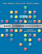 Basic Business Statistics: Concepts and Applications,  12th Edition, Berenson, M