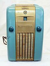 Old 1940s WESTINGHOUSE Model H-125 LITTLE JEWEL Refrigerator Promo TUBE RADIO