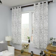 Leaves Pattern Curtains For Living Room Cotton Curtain Window Drapes Treatments