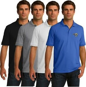 Los Angeles Rams Golf Polo Shirt - up to 6X Embroidered