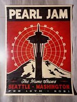 Pearl Jam 2021 *WOOD* Poster Seattle Home Shows Streaming Event RARE MINT