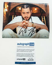 Post Malone Signed 'White Iverson' 8x10 Photo Proof ACOA COA Beerbongs Stoney A