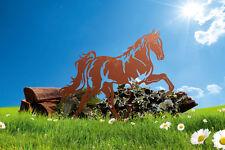 Edelrost Pferd Mustang Dekoration Garten Terrasse Stall Tier Skulptur Deko