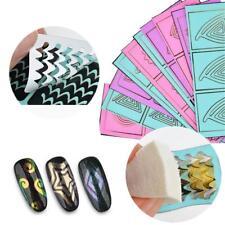 10Pcs  Hollow Geometry Nail Stickers 3D Flower Star Grid Nail Art Decals ES