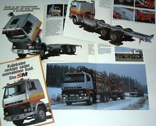 1983 Sisu SM 6x2 8x2 Truck Brochure - 22 pages - Finland - MINT