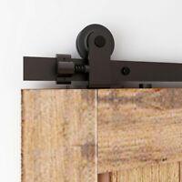 4-12FT Sliding Barn Door Hardware Closet Track Kit for Single Wood Door T Shape