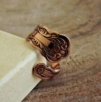 Copper Spoon Adjustable Ring Arthritis Pure Copper Adjustable Ring Border Spoon