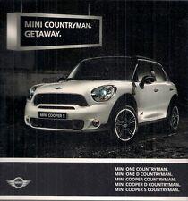 Mini Countryman 2010-11 UK Market Launch Foldout Sales Brochure Cooper D S