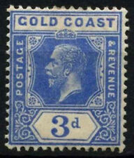 Gold Coast 1921-4 SG#91, 3d Bright Blue KGV MH #D51985