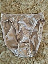 New listing Vintage Liquid Champagne Satin Hi Cut waist & thigh Panties by Delicates sz S