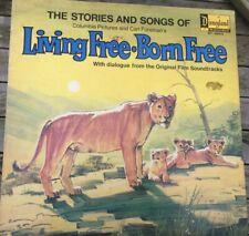 Living Free, Born Free vinyl LP in gatefold sleeve, Disneyland 1972