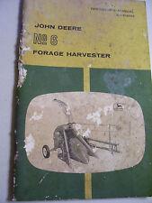 Vintage John Deere Operators Manual -# 6 Forage Harvester